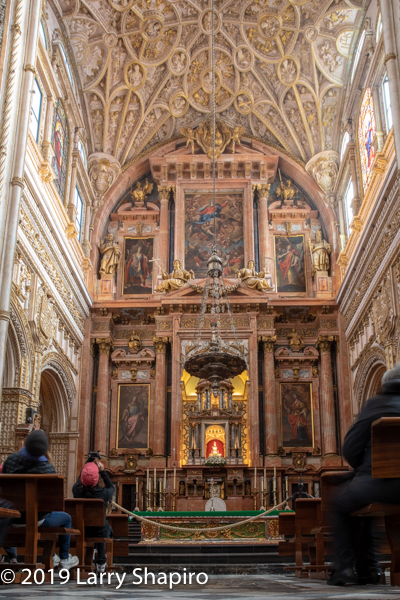 alter inside the Cathedral Mosque in Cordoba