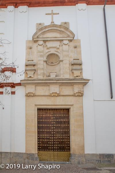 classic wooden door in Cordoba