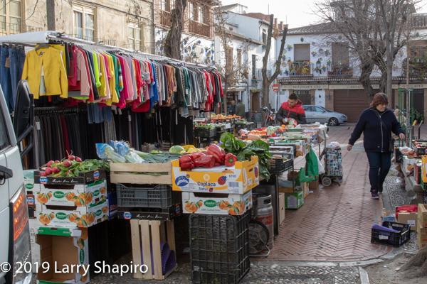 open air street market in Granada
