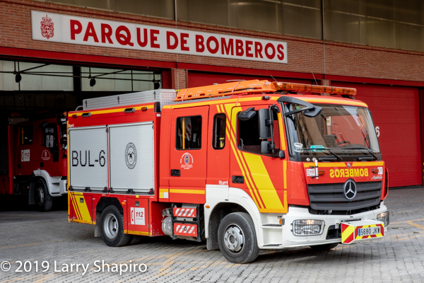 Mercedes fire engine in Granada