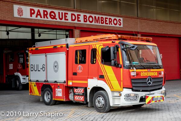 Mercedes fire engine in Granada