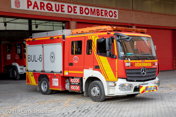 iturri pumper fire engine in Granada Spain