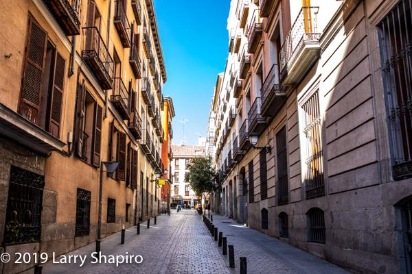 narrow street in Madrid Spain