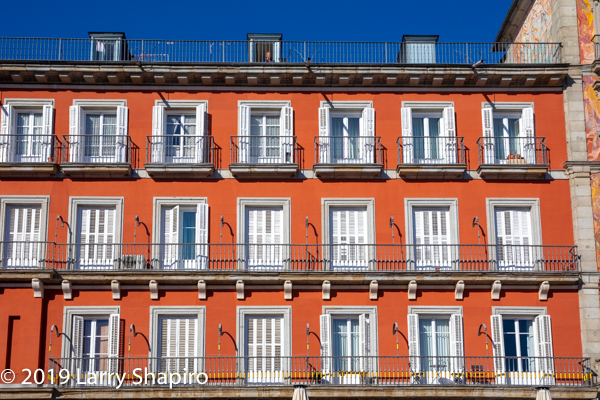 colorful Madrid Spain architecture