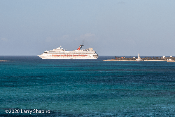Cruise ship leaving Nassau