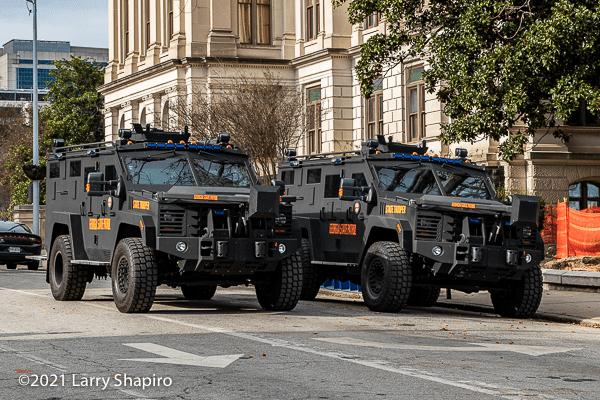 Georgia State Patrol SWAT vehicles