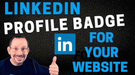 Add a LinkedIn Profile Badge to Your WordPress Website