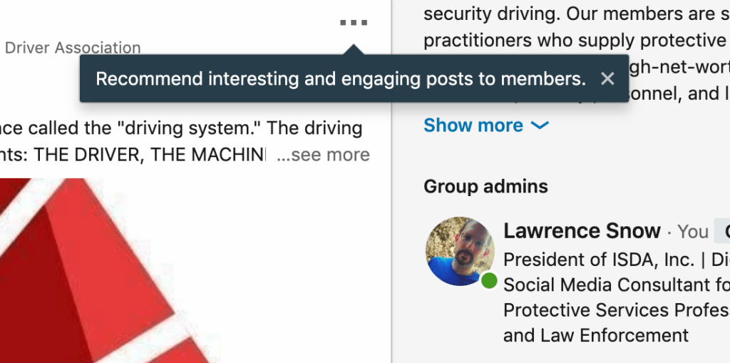 LinkedIn Recommended Group posts