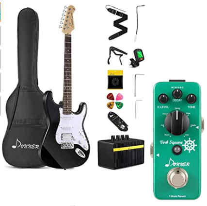 Donner DST-102B 39 Inch Electric Guitar Beginner Kit with Amplifier