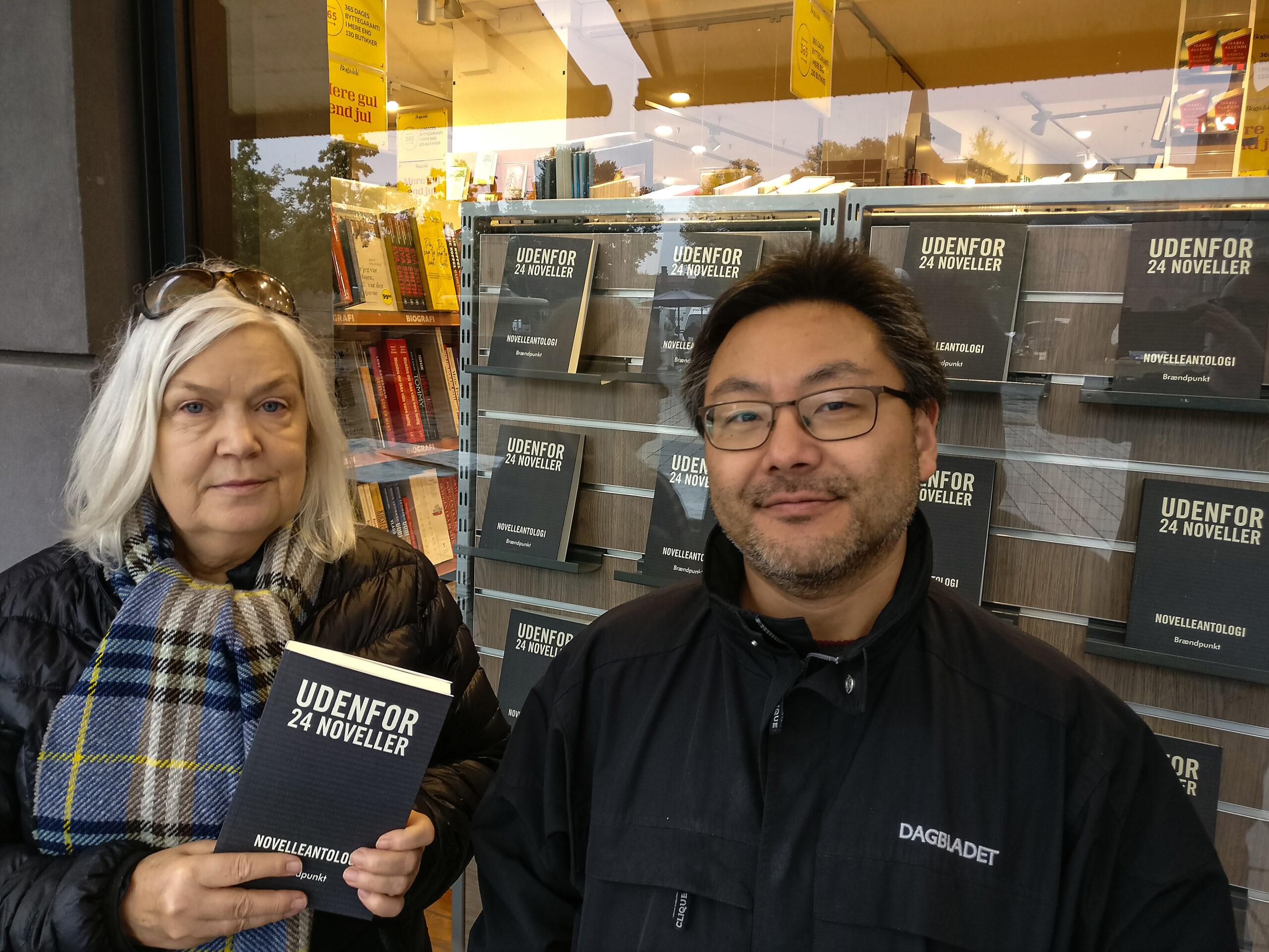 Forfattere fra Udenfor holder reception … udenfor