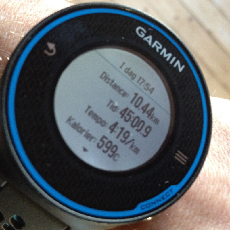 Garmin Forerunner 620 test 10 km