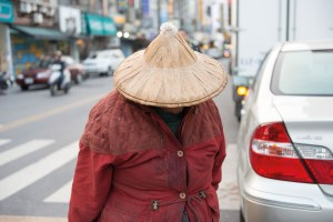 Woman, Rice head, Farmer, Traditional chinese clothes, Street Photography, Asia, Taiwan, Nothing to Declare, Photo Book, Beach, Traditinoal, New, Poor, Rich, Woman, Coolie Hat