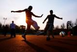 Ungdommer som er med i New Page prosjektet var på Kjelvene og spilte fotball og spiste hamburger