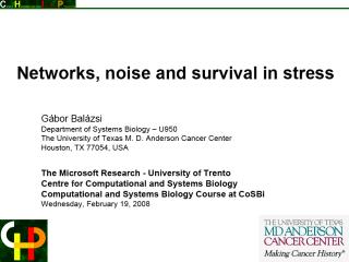 Garbor Balazsi's opening slide