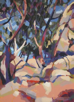 Hot Day on the Dog Rocks, 2009, acrylic on linen, 82 x 62 cm
