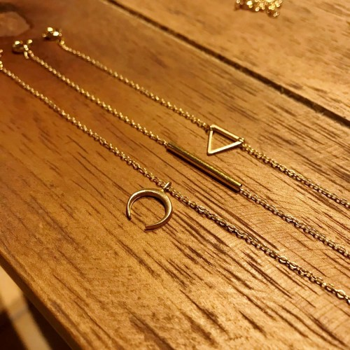 brass chain strap