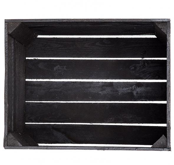 black caisse en bois