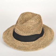 chapeau fedora paille gabrio seagrass crochet