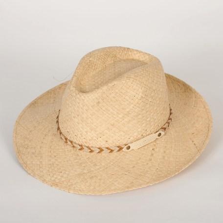 chapeau de paille homme grand bord Nathan raphia naturel