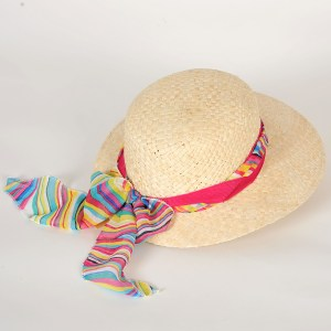 chapeau de paille maïs femme Virginia garniture fuchsia ou jean