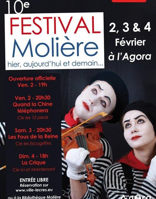 10ème Festival Molière du 1er au 4 février 2018 à l'Agora au Crès