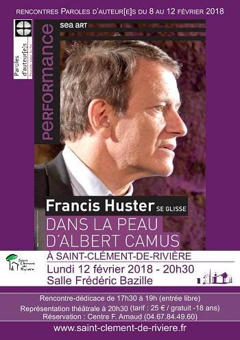 Festival Paroles d'Auteur[e]s invité d'honneur Francis Huster à Saint-Clément-de-Rivière du 8 au 12 février
