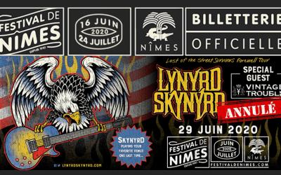 Festival de Nîmes : le concert de Lynyrd Skynyrd définitivement annulé