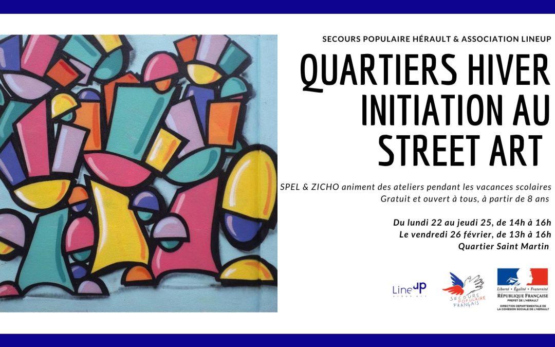 Le secours populaire et Lineup proposent des ateliers d'initiation au street Art dans le quartier St Martin à Montpellier