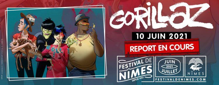 Nîmes : le concert de Gorillaz au Festival de Nîmes annulé