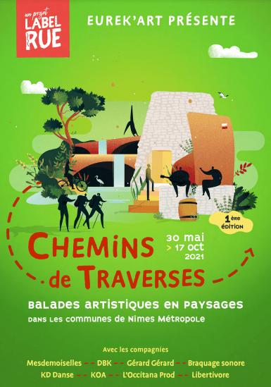 Gard : du 30 mai au 17 octobre se tiendra la 1ère édition des balades artistiques des Chemins de Traverses