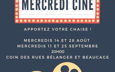 Mercredi cinéma sur la Place publique l'Île