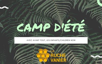 Camp d'été 2020 avec AVANT TOUT, LES ENFANTS/Children Now