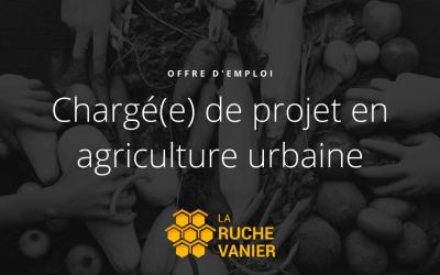 Offre d'emploi : Chargé(e) de projet en agriculture urbaine