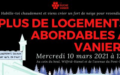 Rassemblement pour du logement social dans Vanier !