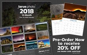 Pre-Order larue.photo 2018 12-Month Fine Art Wall Calendar