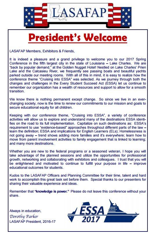 2017 Spring Conference Agenda – Lasafap