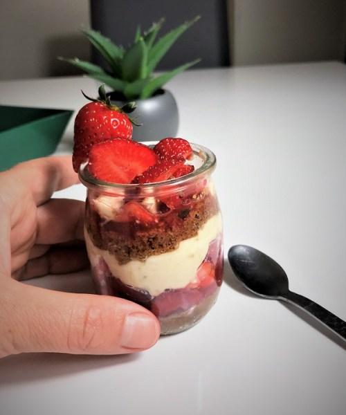 recette verrine aux fraises dessert aux fraises