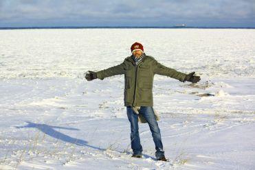Víctor en la Bahía de Hudson