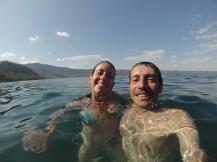 Baño en la Laguna de Apoyo