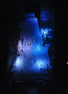 Cascada de sal natural