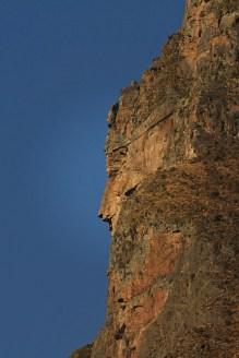 Perfil Inca tallado en Montaña, Ollantaytambo