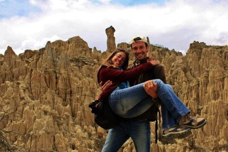 Juntos en Valle de la Luna, La Paz, Bolivia