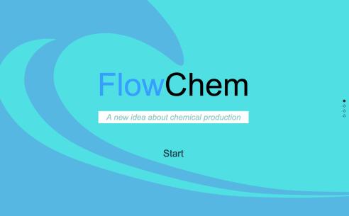 Page d'accueil du site pour FlowChem