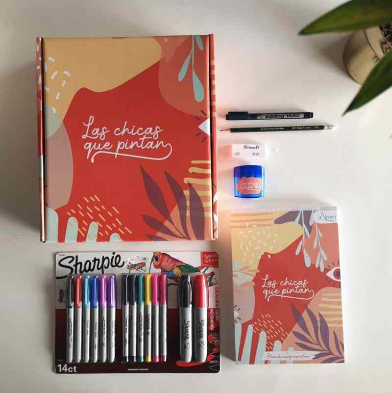 kit de ilustración las chicas que pintan
