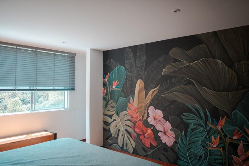 mural Felipe y Mariana las chicas que pintan