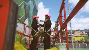 pintura mural las chicas que pintan agrocampo