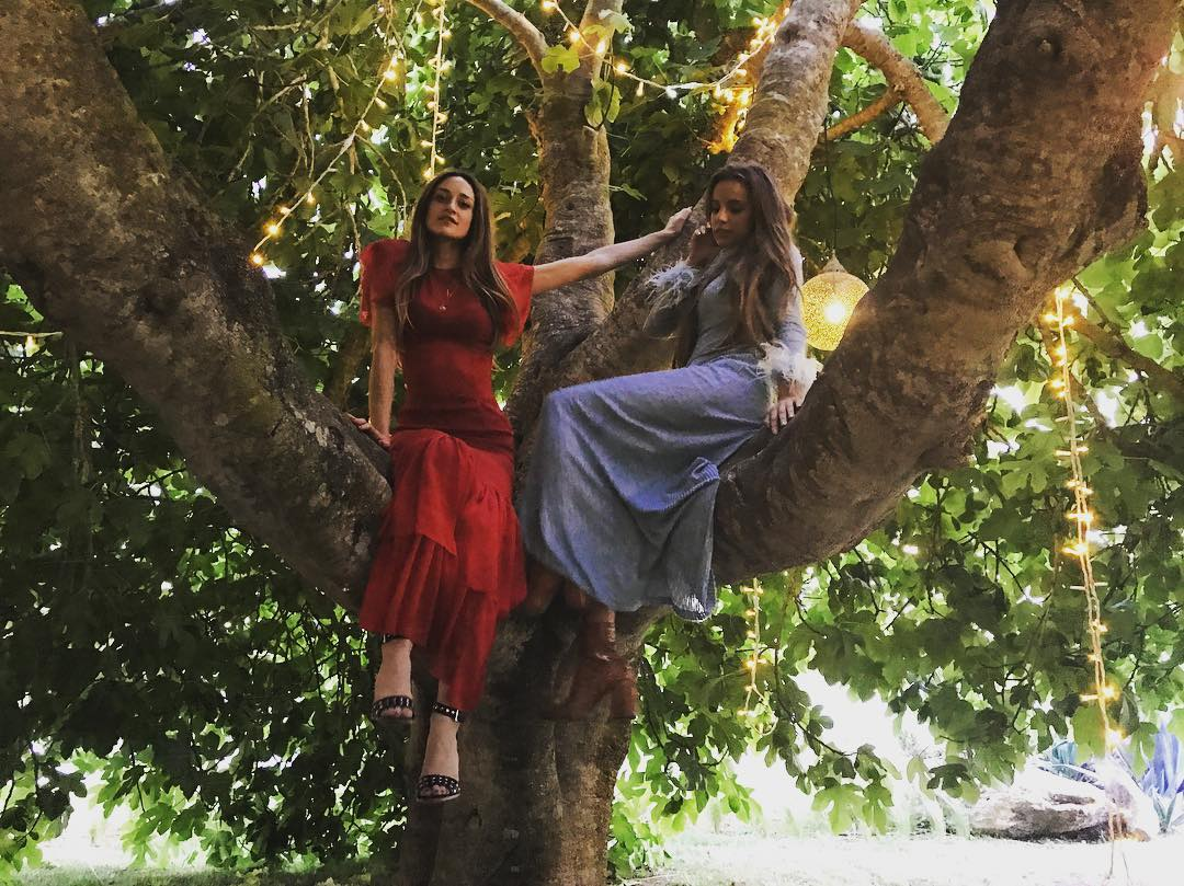 Stunning Beauties in our magical fig tree ✨???? #lascicadasibiza #beauties #figtree #magic #privateevent #cicadascelebrations #summermemories #ibizasummer2017