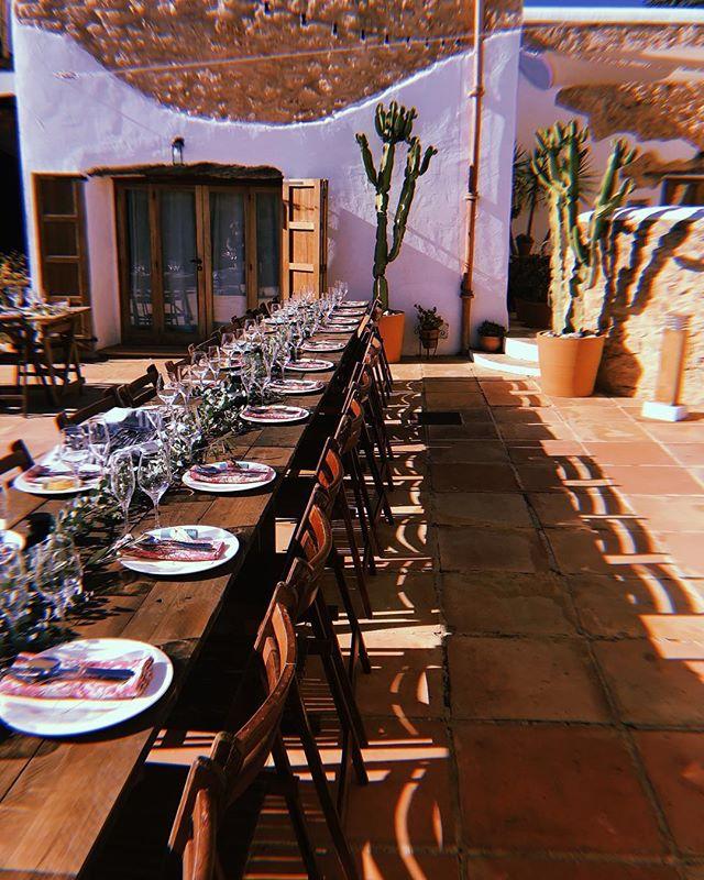 – All Set – #dinner #patio #perfection #event #decoration #styling #rustic #chic #location #finca #lascicadasibiza #boutiquevilla #ibiza