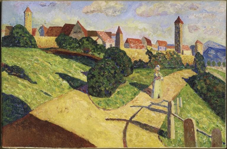 Alte Stadt II (Ciudad antigua II) 1902. Óleo sobre lienzo 52 x 78,5 cm.