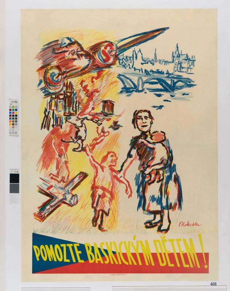 08.- Oskar Kokoschka_Pomozte baskickym detem! (¡Ayuda a los niños vascos!)_1937_Museo de Bellas Artes de Bilbao_© Fondation Oskar Kokoschka, VEGAP